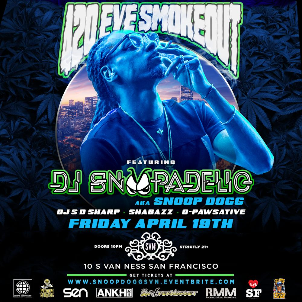 420 eve smoke out SF  ???????? SVN event center afterparty April 19th ‼️ RMM does it again @bigpercyRMM https://t.co/auyRDhiw4b