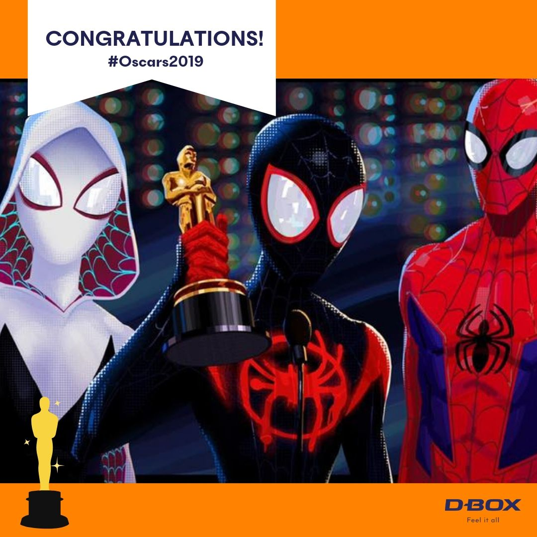 test Twitter Media - Congratulations to these amazing D-BOX titles!  #BlackPanther #SpiderVerse #FirstMan #Oscars2019 https://t.co/xnzSc0jvJf