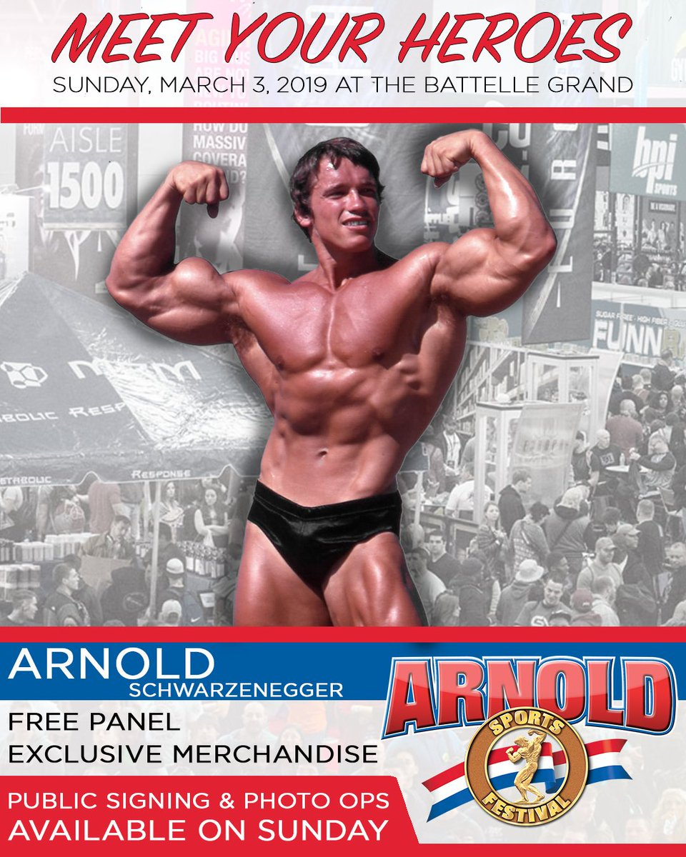 RT @ArnoldSports: Now available: Photo ops with @Schwarzenegger. https://t.co/lzaMXMXEU1 #ASF2019 https://t.co/0fIsRcBzQ5