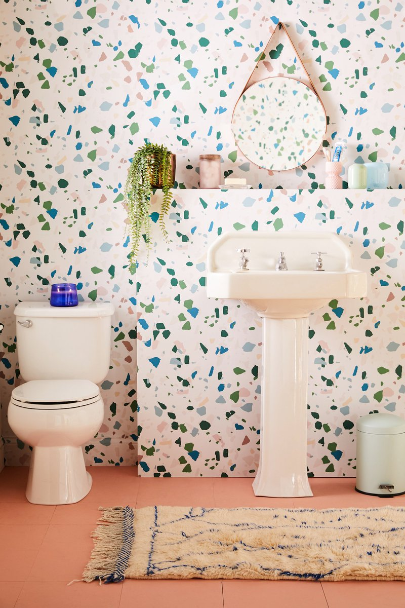 Easily Removable Wallpaper Means You Can Now Have That Fun Bathroom