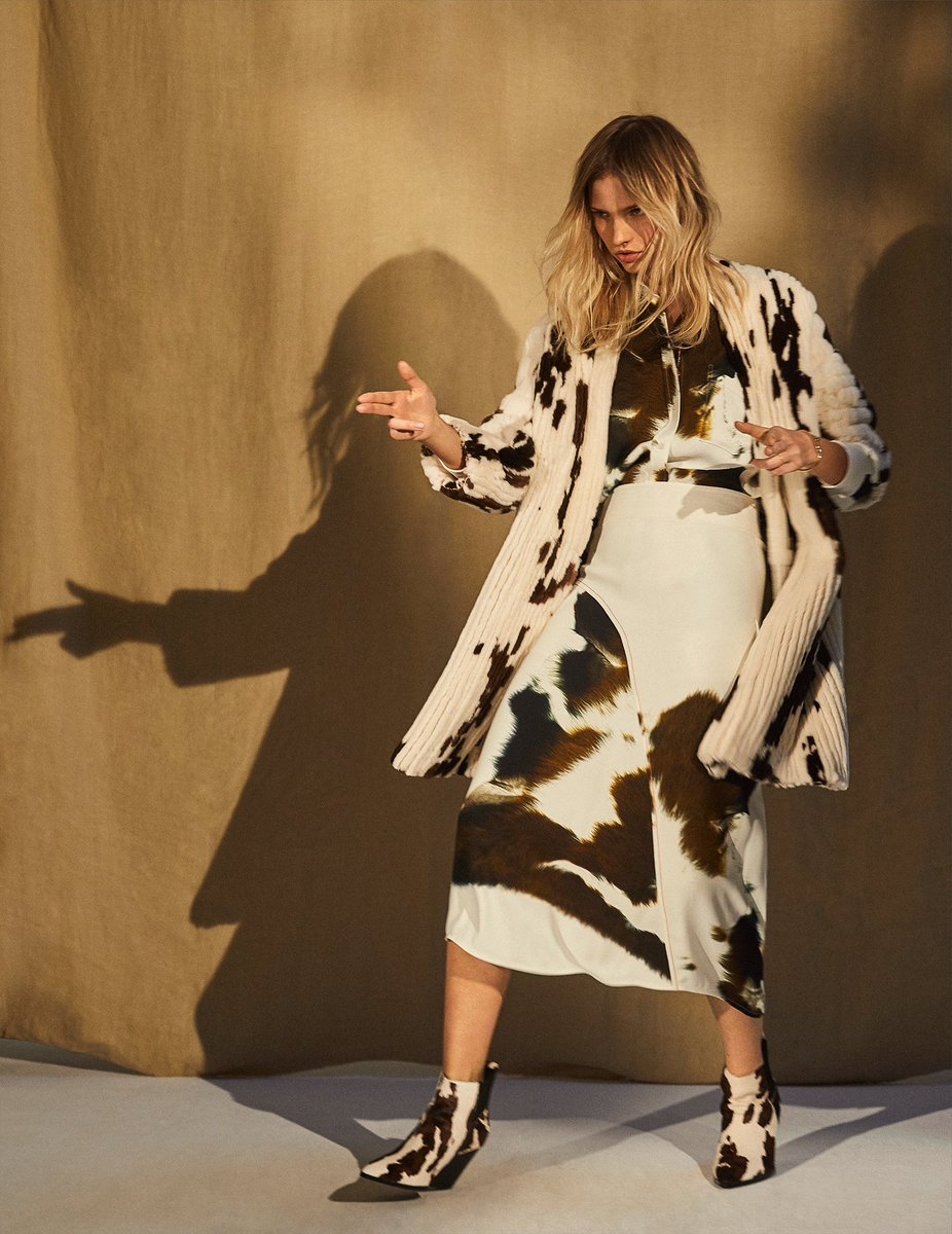 Love this shot of my modern and minimal approach to cowprint in @VogueSpain Discover at https://t.co/JGXD6anPrY x VB https://t.co/wDrQ1VmfqR