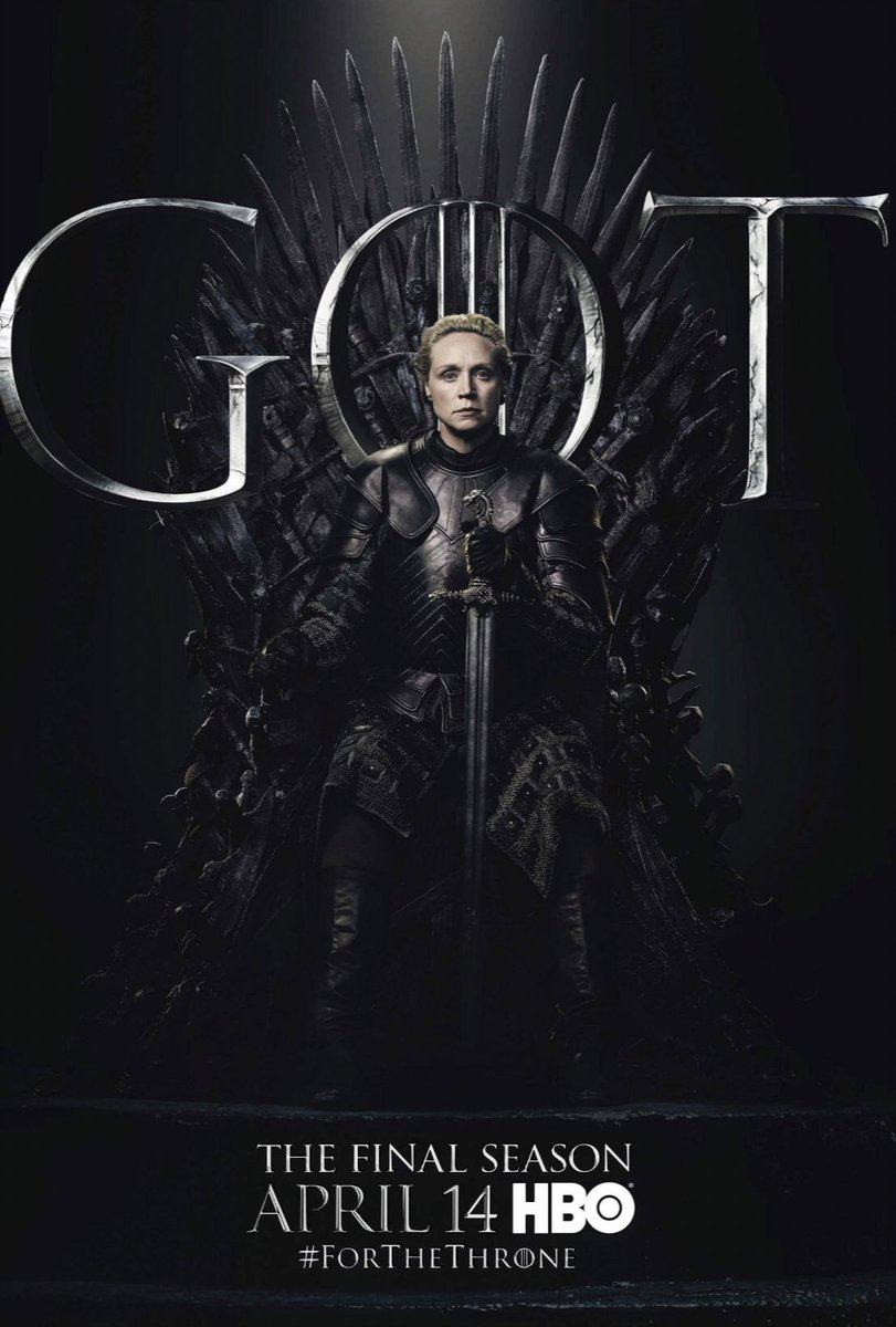 The final season. #BrienneOfTarth @GameOfThrones ⚔️????❣️ https://t.co/7DVLf1KkQC