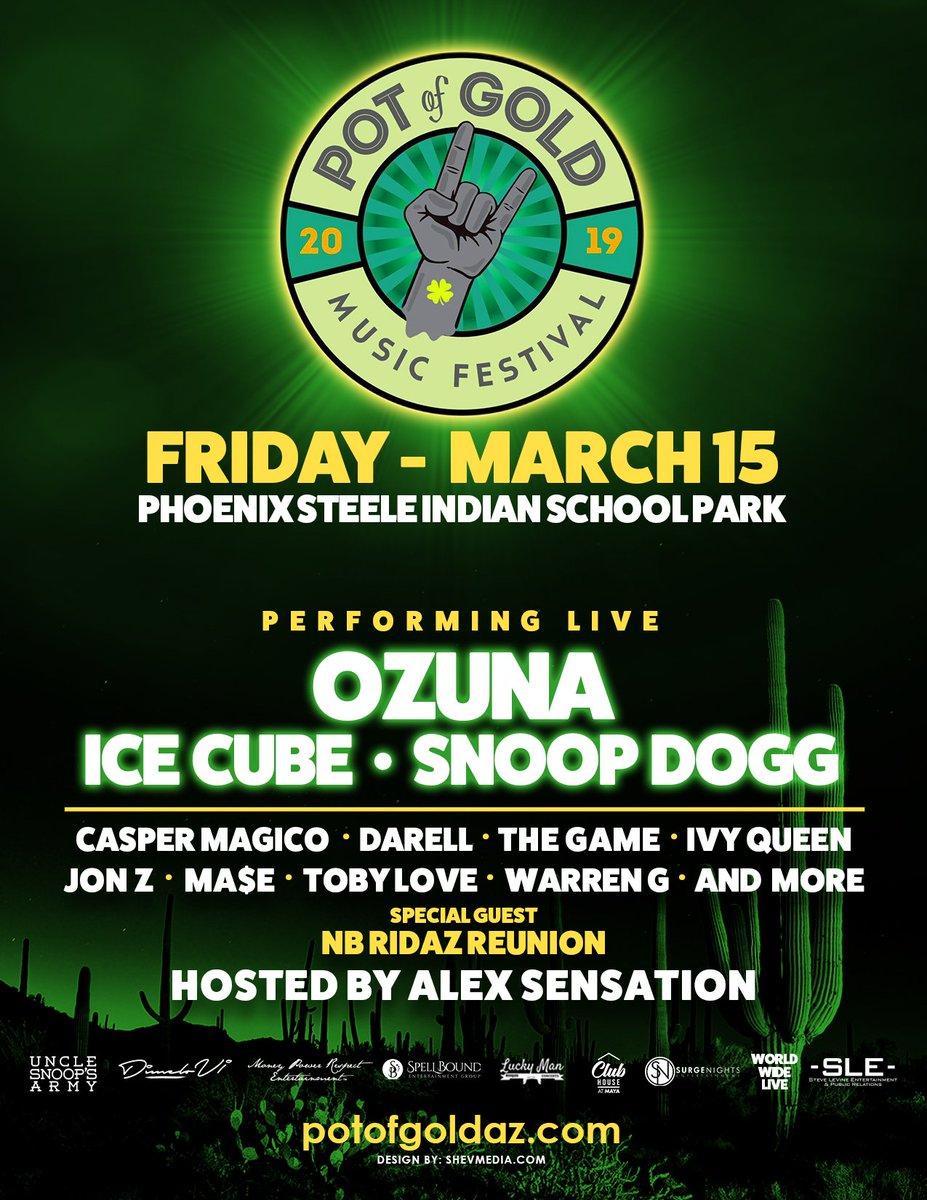 Phoenix what up!! ill be live wit @IceCube n Ozuna at @PotofGoldAZ March 15 ‼️ get tickets ➡️https://t.co/gYwGxbikz9 https://t.co/ClU7M0Lwjl