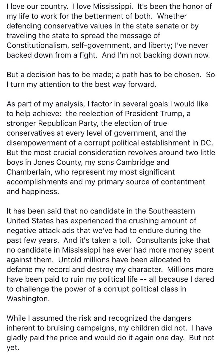 My statement on running for office