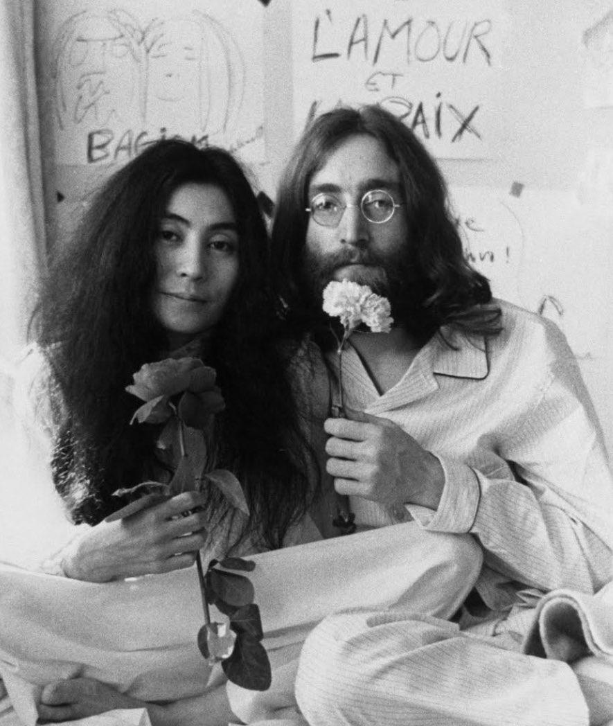 Yoko Ono and John Lennon https://t.co/ftZlYkKKgG