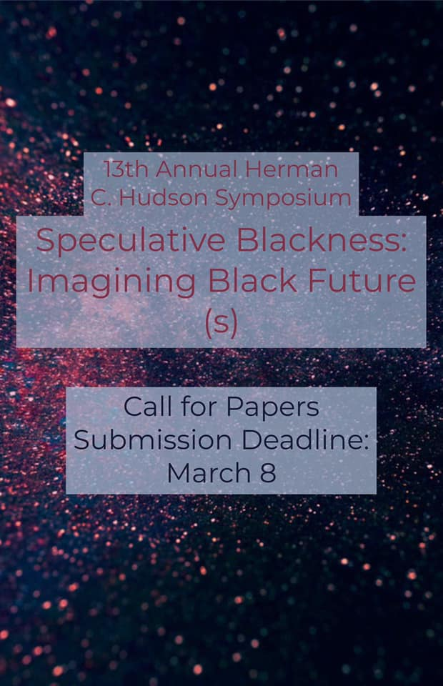 This year's African American and African Diaspora Studies at Indiana University (AAADS) Herman C. Hudson Symposium, Speculative Blackness: Imagining Black Future(s), will focus on this speculation of black life through the philosophical stances of Afrofuturism and Afrosurrealism. https://t.co/jchFp1zNSH