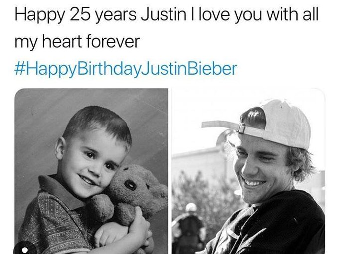 Happy birthday Justin Bieber  From an African fan