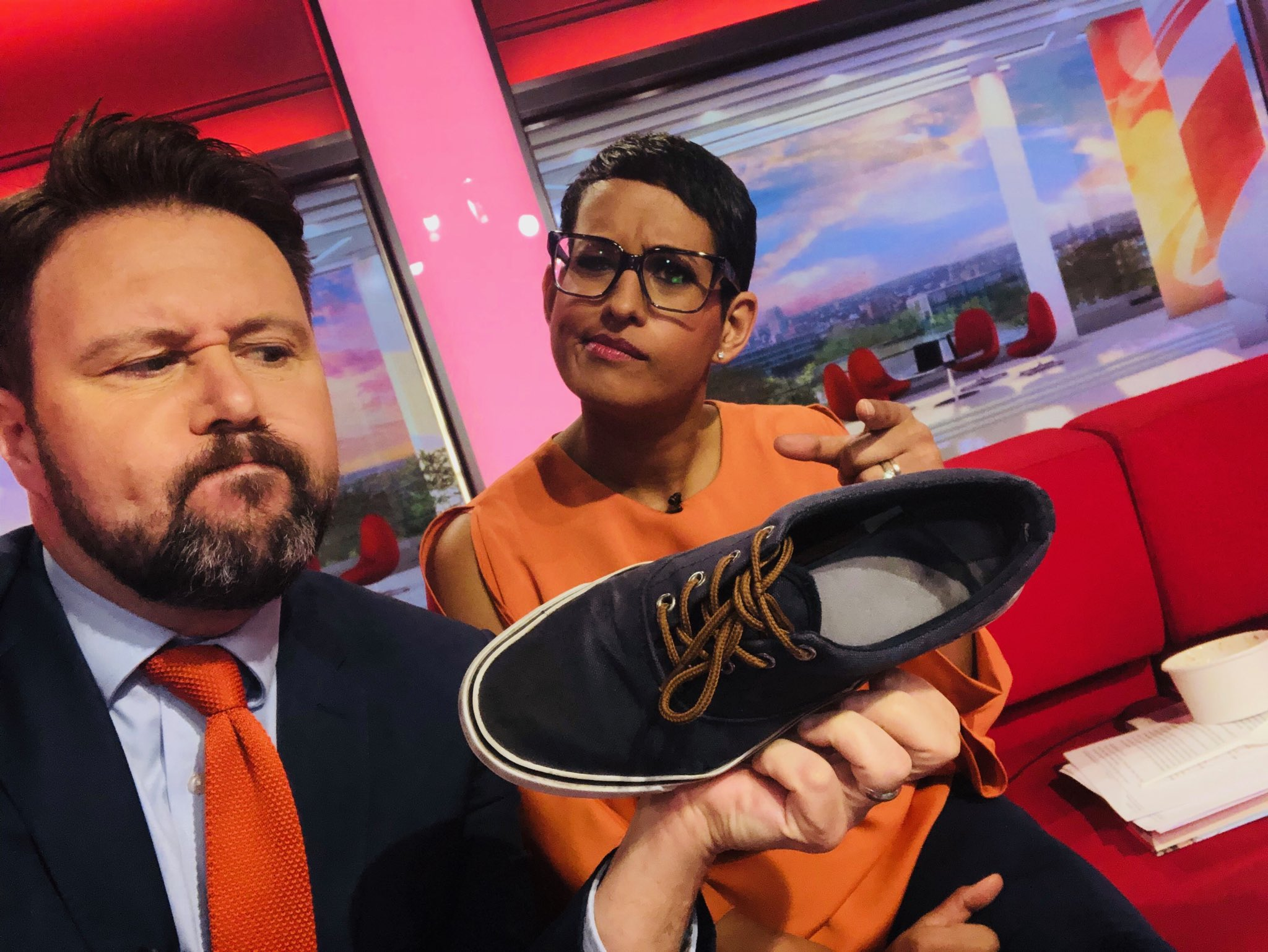 "We're talking dialects @BBCBreakfast so what do you call this? Londoner ⁦@BBCNaga⁩ says it's a ""plimsoll"". In my Westcountry family we call them ""daps"".. Or are they ""pumps"" ""slips"" ""creps"" or ""teckies""? https://t.co/utISszsU3Z"