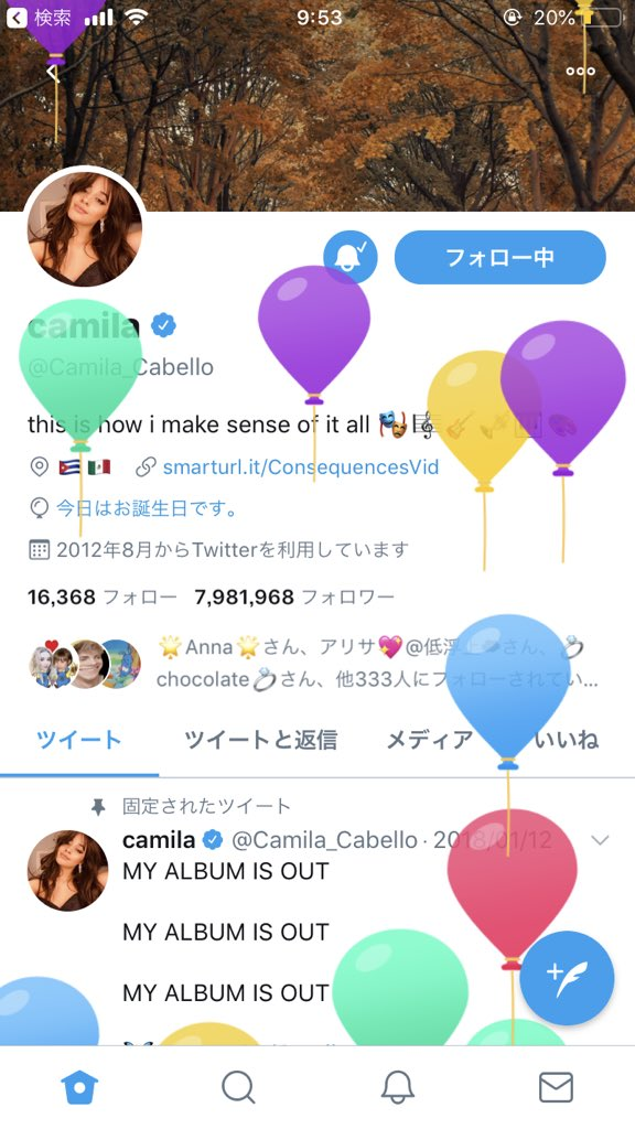 In Japan, it is already your birthday!!!!  HAPPY BIRTHDAY CAMILA!!!!!!