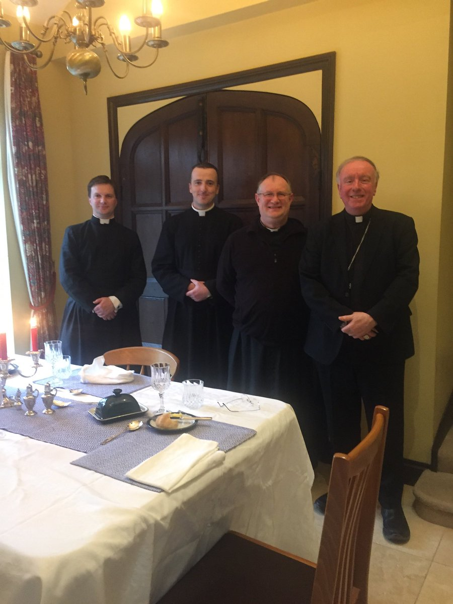 test Twitter Media - I'm in Reading today to install Fr Matthew Goddard as the parish priest of St John Fisher parish. Here I am with Fr Matthew and the two assistants, Fr Seth and Fr Patrick. https://t.co/xZlyqXIm19
