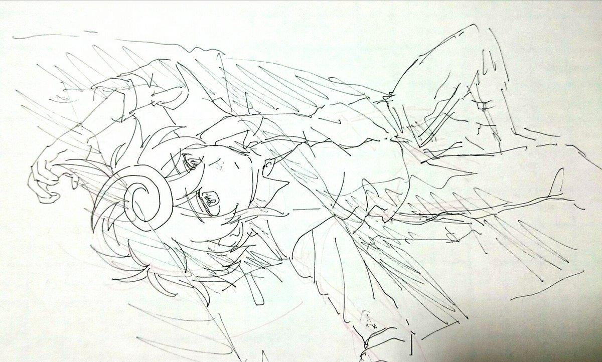 RT @tairafujimoto: ベッドの上で何故か憂いげにしてる新導クロノを描くのが好き https://t.co/Ykczq03QAs