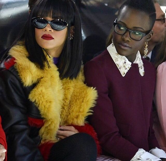 This photo is ICONIC, and now Rihanna and Lupita Nyong'o are actually collabing.