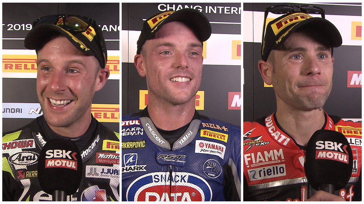 test Twitter Media - 😁😁😁Smiles all round from WorldSBK Top 3️⃣ in Buriram!  #THAWorldSBK 🇹🇭  🎙INTERVIEW | #WorldSBK https://t.co/rsv6glNoSV https://t.co/412AcVLGEq