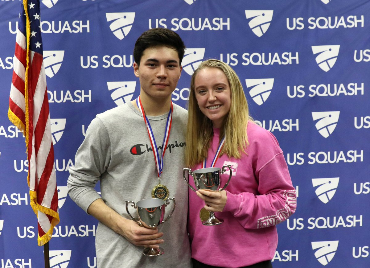 test Twitter Media - RT @USSQUASH: Congratulations to the #NationalJuniors19 champions Thomas Rosini and Olivia Robinson! 🇺🇸🏆🏆👏 https://t.co/yNhCMhLeTI