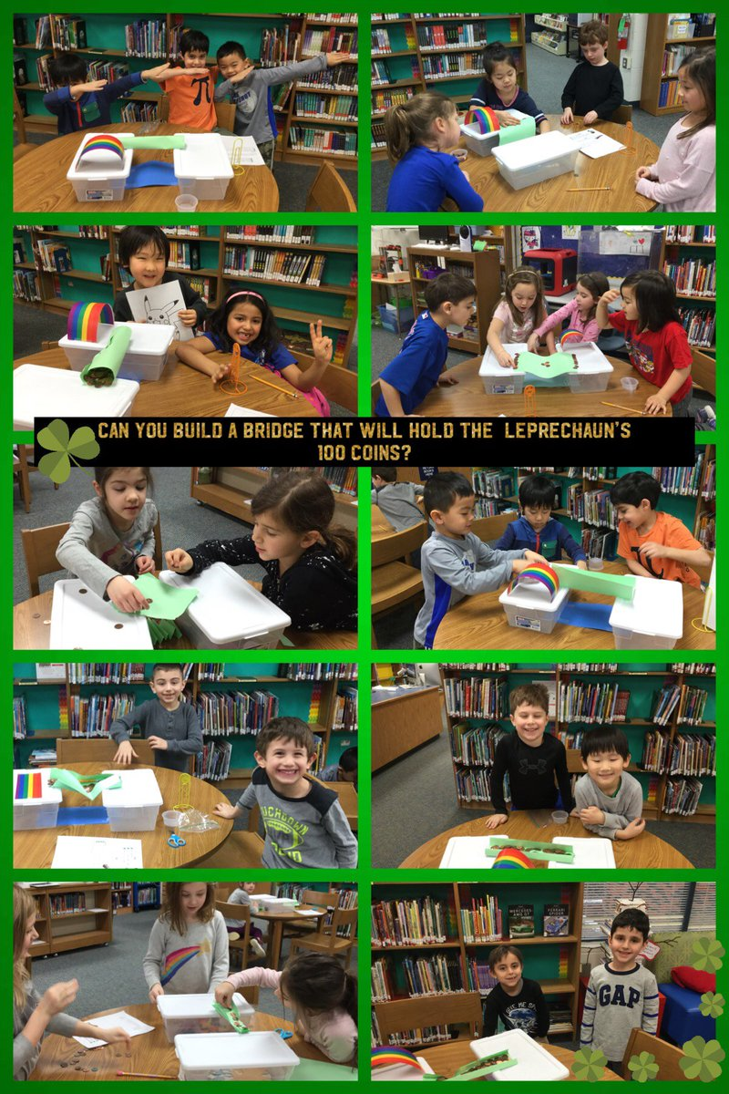 test Twitter Media - Happy St Patrick's Day! We have been problem-solving and practicing teamwork in the LMC. Take a look at our leprechaun bridges. How can you make a piece of paper stronger with no other supplies? #d30learns @willowbrookKH @WillowbrookKB @WillowbrookKL https://t.co/GW9qCIHO8y
