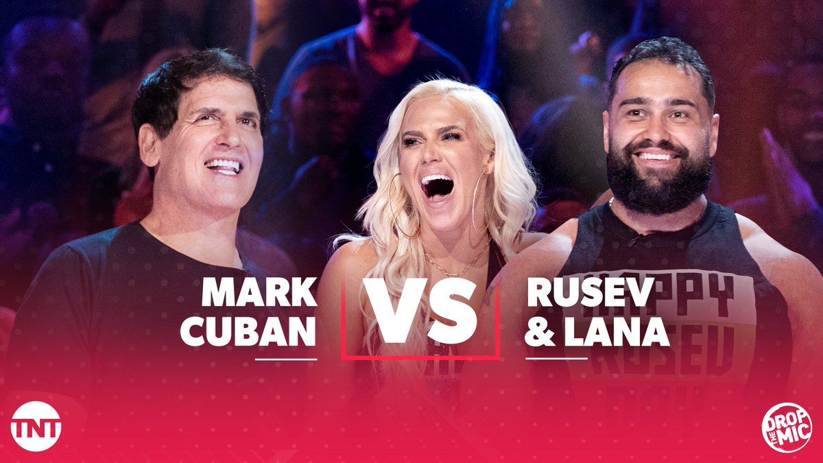 RT @DropTheMicTNT: A Bulgarian and a billionaire walk onto a stage...???? #DropTheMic @RusevBUL @LanaWWE @MCuban https://t.co/Dwg0GTVhug