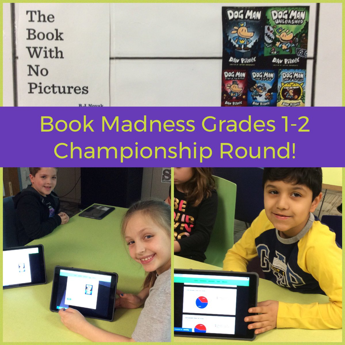 test Twitter Media - It's the Championship Round for Grade 1-2 Book Madness at Wescott! Who will win? The Book with No Pictures by @bjnovak or the Dog Man series by Dav Pilkey?  Students in @Wescott2S voted this morning!  #d30learns #d30reads #bookmadness @Wescott2W https://t.co/FkASKipDIq