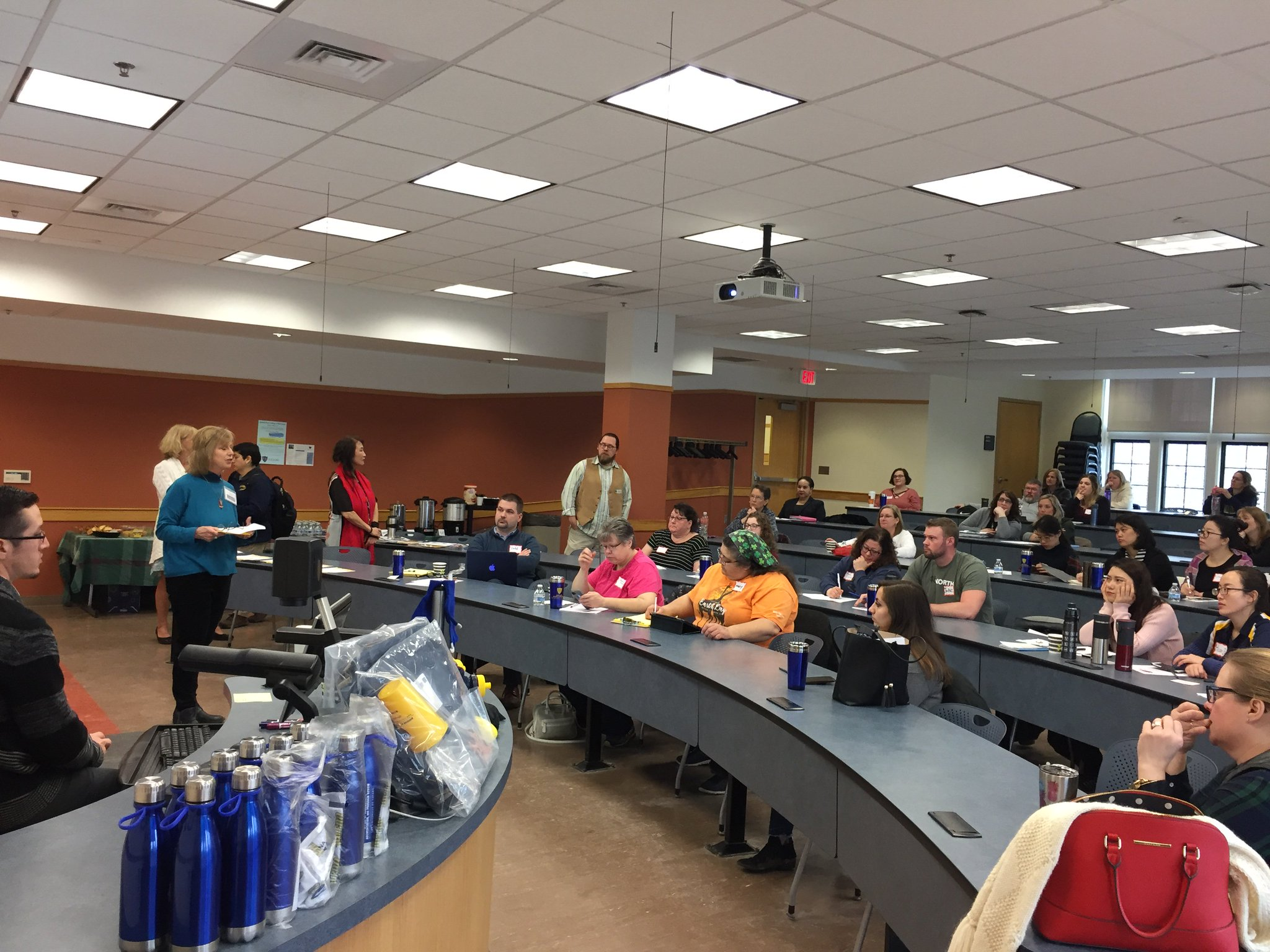 We at #Edcamp #UToledo made sure no one went home without some #swag! Dozens of giveaway prizes were made possible by the generosity of various departments at @UToledo! Thank you to the University of Toledo for such a wonderful venue within which to host our @edcamp! https://t.co/S8rhbcfUyX