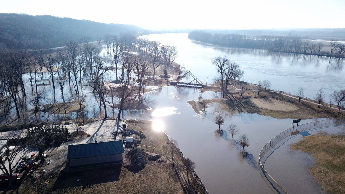 test Twitter Media - Check out this drone photo taken yesterday of our flooded parks. Thank you Wes L. for sharing this aerial photo! https://t.co/K2CqawLfyH