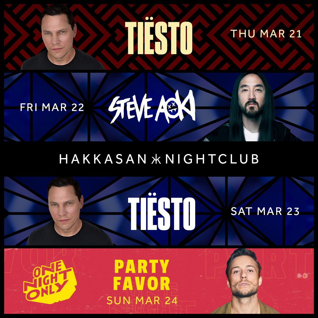 test Twitter Media - We are excited about our upcoming weekend lineup featuring @Tiesto, @SteveAoki, & @PartyFavorMusic! Tickets: https://t.co/fnzITewzYr https://t.co/eUXCRb48Yn