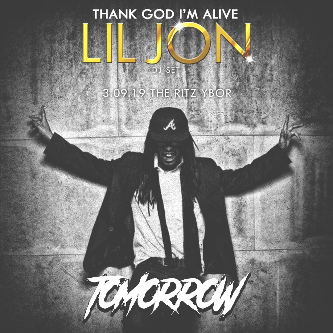 RT @tampaedm: OKAY!!! @LilJon turns up Tampa with a DJ set tomorrow! https://t.co/N8YZgOg1yq