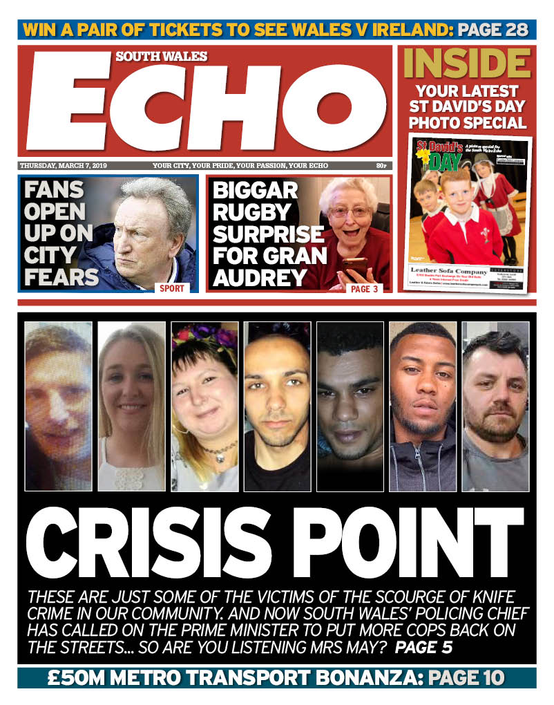 Here is Thursday's South Wales Echo front page... https://t.co/KrT2vchrxV