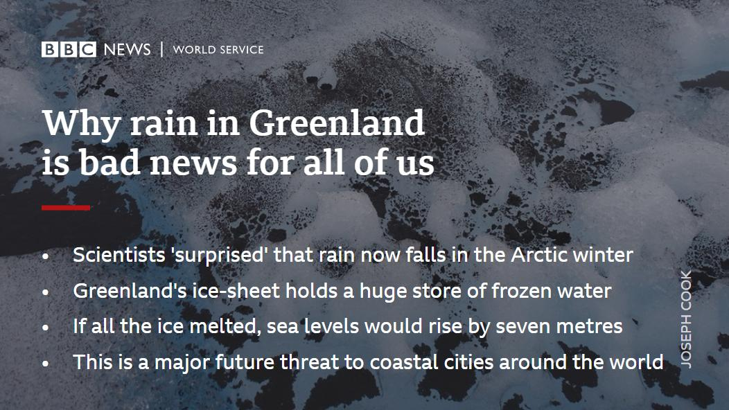 RT @bbcworldservice: Uh oh, it's raining in Greenland... https://t.co/w9xPltY7zG #climatechange https://t.co/t9IaTCiIIi