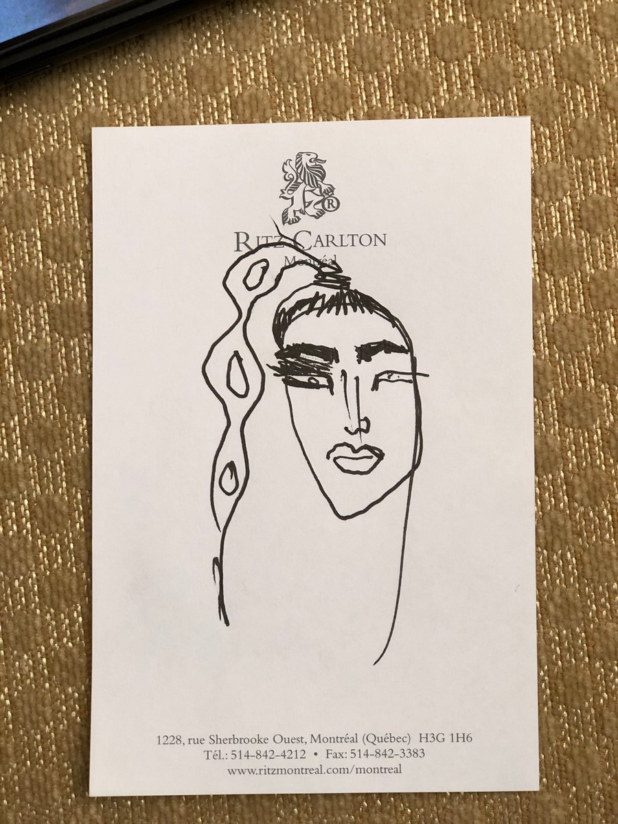 Mr. Mugler sketched my hair and make up look for the night ✨ https://t.co/0TlL05zgHB