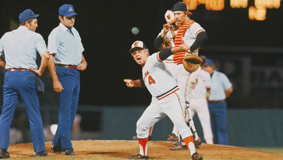 Earl Weaver just says fuck it and turns the tables by throwing out the goddamn umpires. Always a baller move. https://t.co/z4smXVZg8j