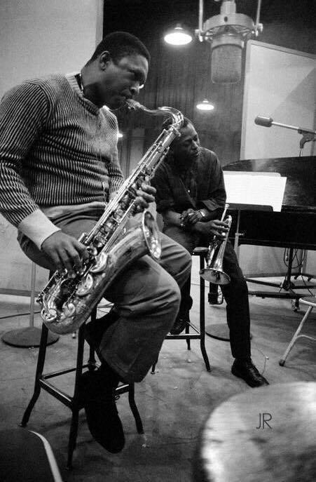 John Coltrane and Miles Davis  #Jazz https://t.co/YQaooMPZYI