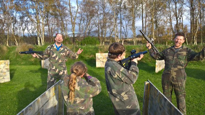 Image for Brilliant #familyfun on the go with our great fun outdoor #lasertag. Looking for something fun to do with the kids - look no further! Featuring 300m red dot scopes, brilliant accuracy and full body camp coveralls #beyourownhero #lasertagrocks #familyfun #
