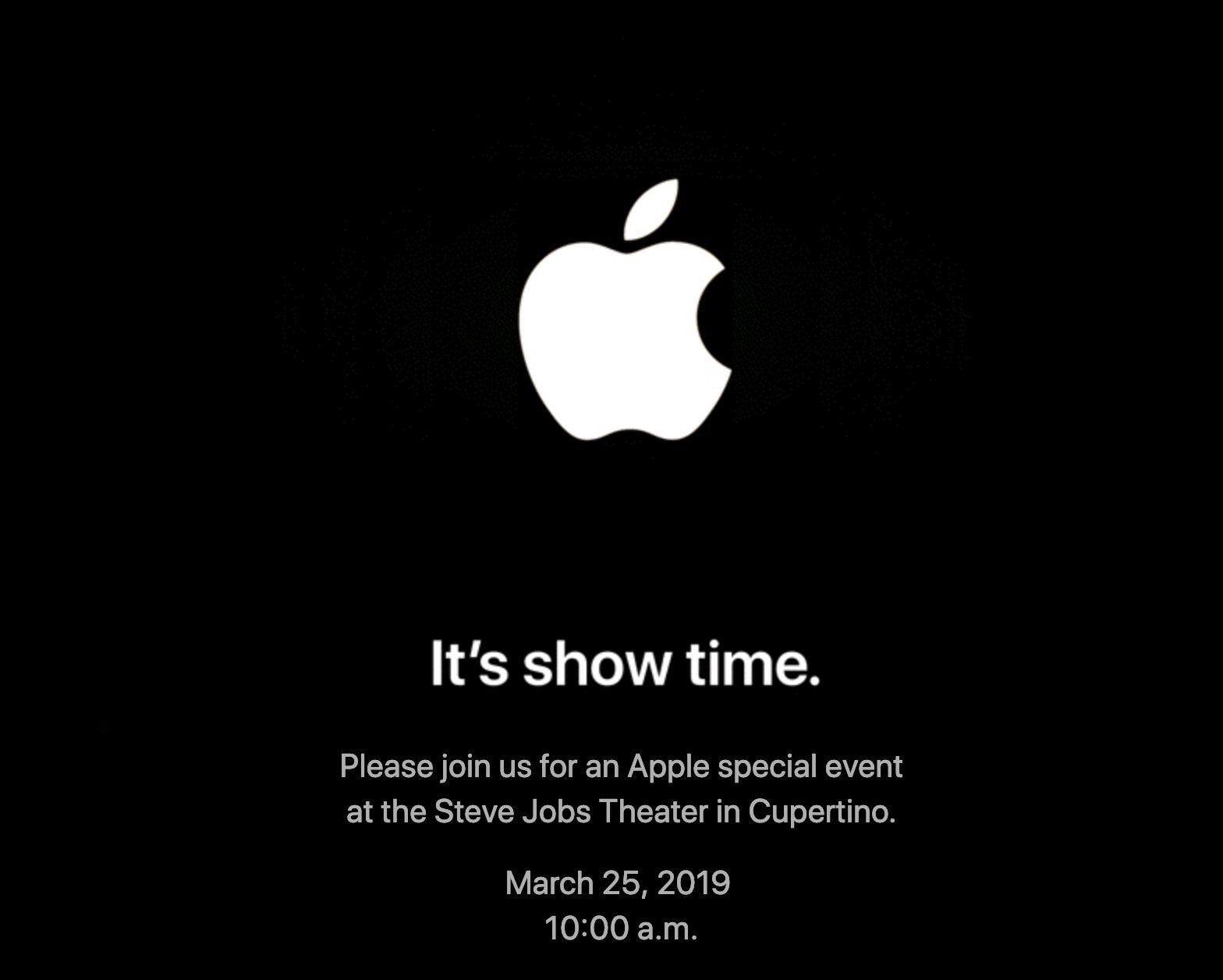 """Please join us for an Apple special event at the Steve Jobs Theater in Cupertino.  March 25, 2019  10:00 a.m."" https://t.co/qV03MNB5dd"