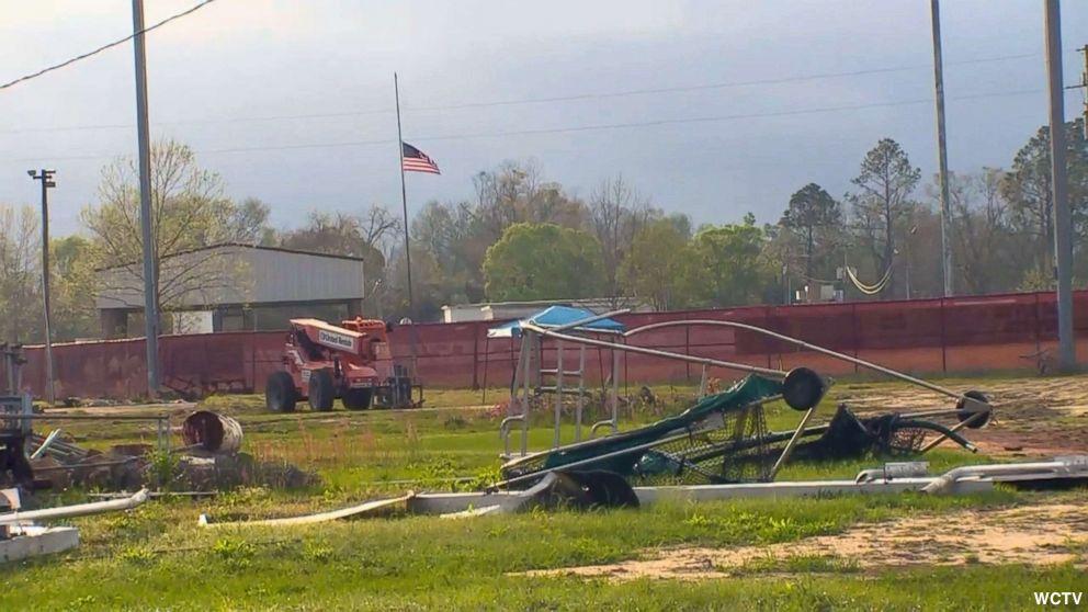 School baseball coach, wife fatally electrocuted repairing hurricane damage on field.