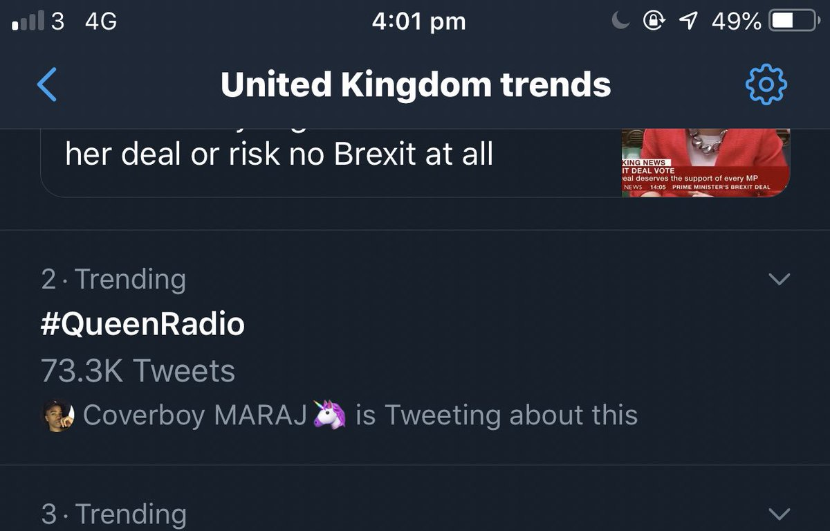 RT @kyleminxj: #QueenRadio is trending #2 worldwide and #2 in the uk ???????? @NICKIMINAJ https://t.co/Czzow7cfB6