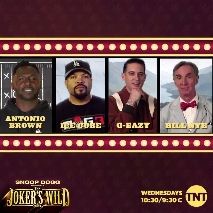 RT @JokersWildTNT: High roller slots only. Catch @AB84, @IceCube, @G_Eazy, & @BillNye tonight on #JokersWild https://t.co/aBiyNTKaJf