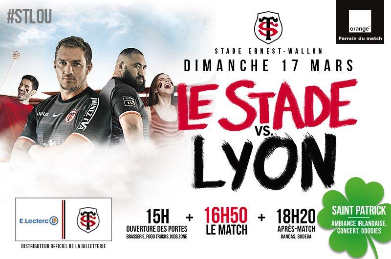 La rencontre #STLOU, c'est dimanche 17/03 à 16h50 au stade Ernest-Wallon !  RT pour tenter de gagner 3*2 places VIP pour ce choc de la #J19 de @top14rugby ! 😉