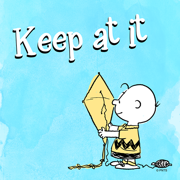 RT @Snoopy: Keep on trying. https://t.co/aNMHhdoAAH