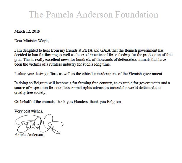 RT @GAIABrussels: Wat Pamela Anderson schrijft aan @BenWeyts ... https://t.co/bYQFpSj3Qw
