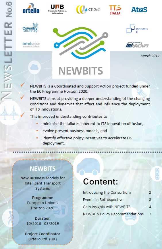 test Twitter Media - Our 6th @NEWBITS_CITS #newsletter is available! Read all about our project #outcomes and upcoming #Policy #Recommendations #eBook under https://t.co/TuGvn0QsNm | #ITS #Transport #Mobility #BusinessModels https://t.co/UqvzmoftaL
