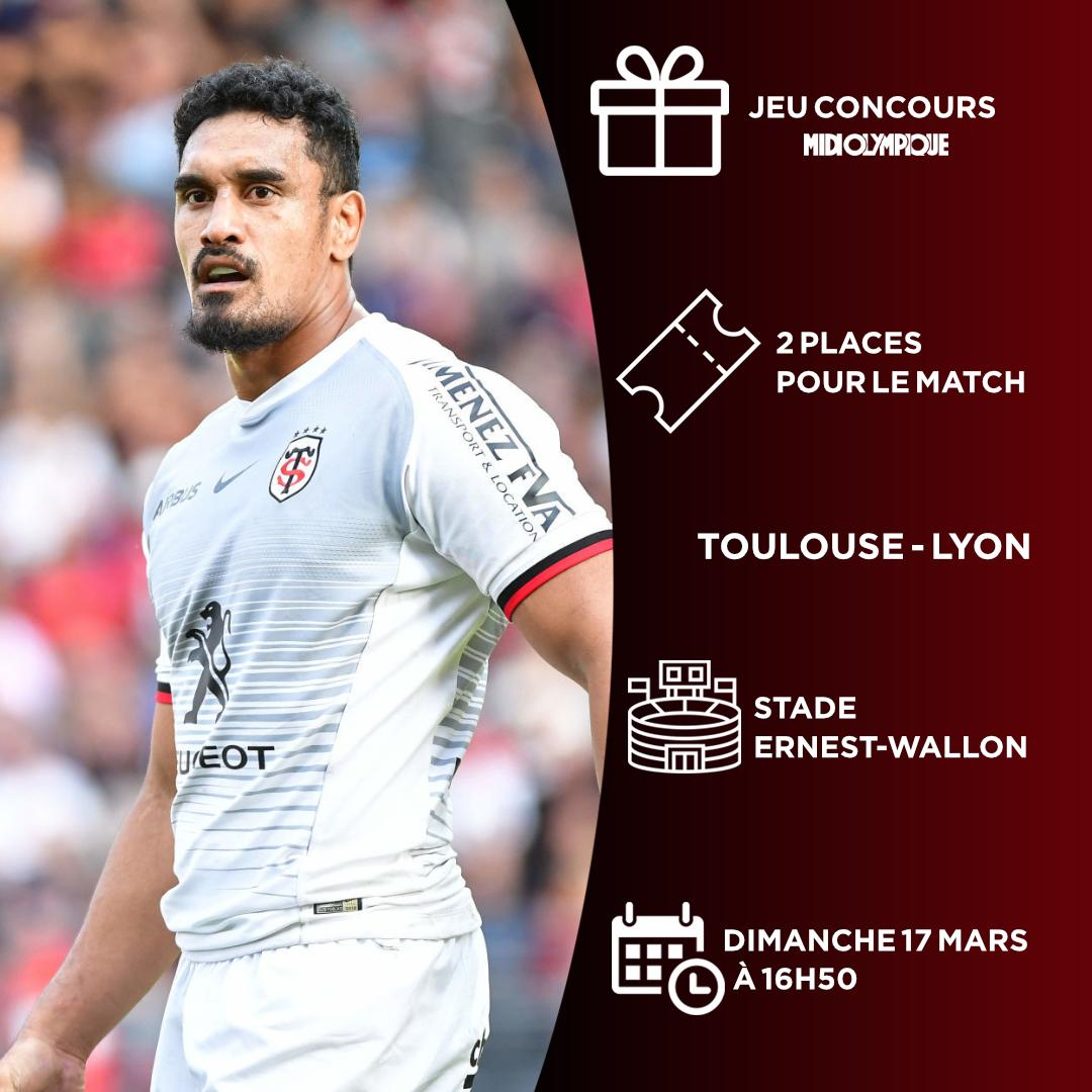 [💥JEU CONCOURS💥]   FOLLOW + RT pour gagner 2 places pour le match de @top14rugby entre le @StadeToulousain et @LeLOURugby dimanche à 12h30 😍  Tirage au sort samedi à 16h🤞