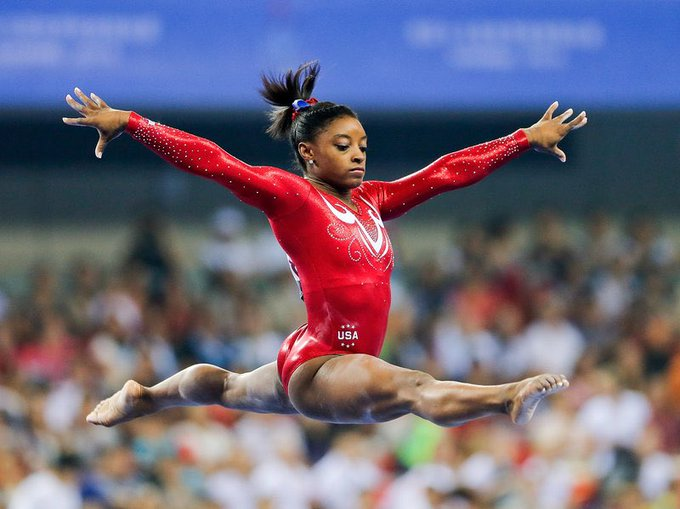 Happy 22nd birthday to artistic gymnast & all around vault and floor gold medalist, Simone Biles.