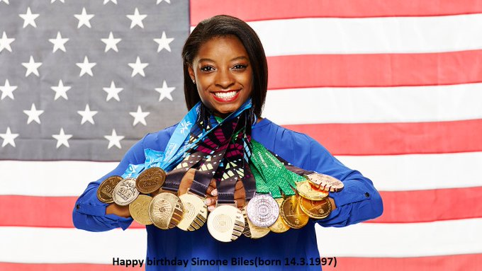 Happy 22nd birthday Simone Biles!