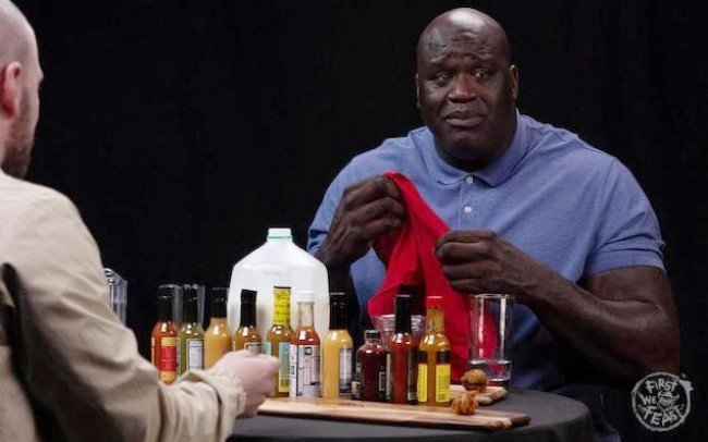 "RT @trailsofsmoke: The Internet is LOVING Shaq's appearance on ""Hot Ones"" https://t.co/bmx8BQU8OY https://t.co/x3VysLYkkZ"