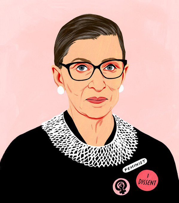 Happy Birthday to fellow March 15 baby and super inspirational lady, Ruth Bader Ginsburg.