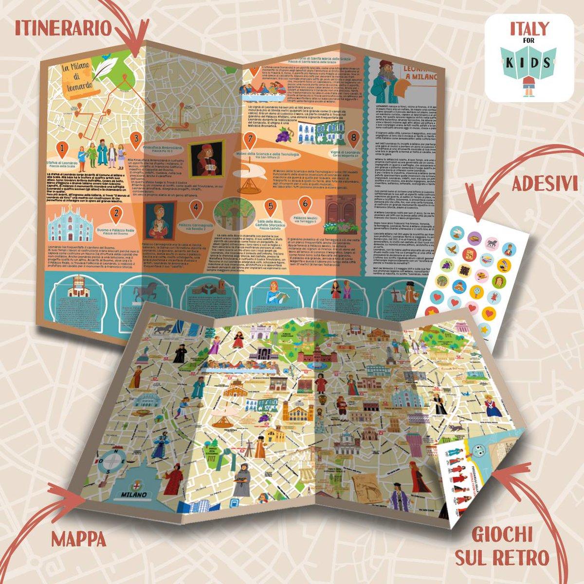 """test Twitter Media - La #mappa di #Milano dedicata a #Leonardo è in libreria: c'è la città, ci sono giochi, curiosità sul retro e gli adesivi. La novità è il """"secondo foglio"""" con un itinerario dedicato al genio rinascimentale. La mappa è disponibile anche sul nostro shop https://t.co/47QPPuyXHK https://t.co/ObjFsFisM4"""