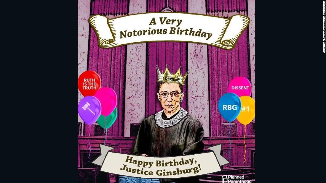 Happy birthday to Ruth Bader Ginsburg!!