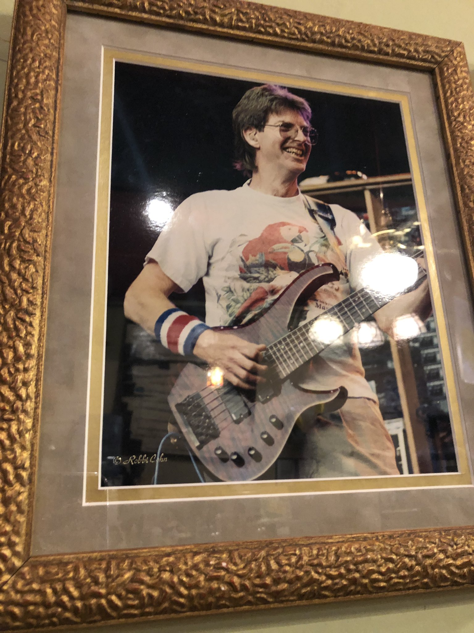 Happy birthday, Phil Lesh! found this pic of him on the wall at Tate Street Coffee this morning :-)
