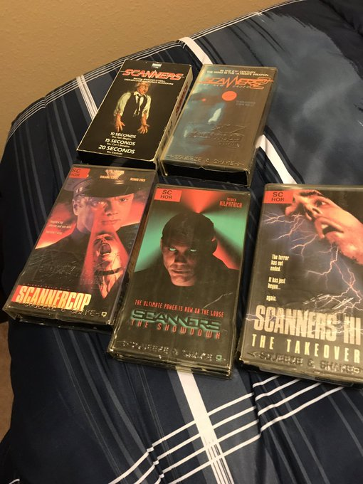 I m a Scanners fan, I own them all on VHS , Happy Birthday David Cronenberg