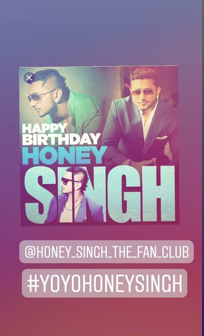 Happy birthday bhai yo yo honey singh