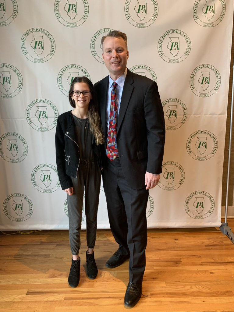 test Twitter Media - Congrats to McKenzie as our @ilprincipals recognition student - so well deserved and also an inspiring and thoughtful speech by @jccomplex - great morning all around! #d30learns https://t.co/NwhE78L1zv